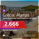 Promoção de Passagens para a <b>GRÉCIA: Atenas</b>! A partir de R$ 2.666, ida e volta, c/ taxas!