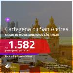 Promoção de Passagens para a <b>COLÔMBIA: Cartagena ou San Andres</b>! A partir de R$ 1.582, ida e volta, c/ taxas!