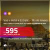 Promoção de <b>PASSAGEM + HOTEL 4 ESTRELAS</b> para as <b>FÉRIAS DE JANEIRO no RIO DE JANEIRO</b>! A partir de R$ 595, por pessoa, quarto duplo, c/ taxas!