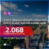 Promoção de Passagens 2 em 1 – <b>MIAMI ou ORLANDO + NOVA YORK</b>! A partir de R$ 2.068, todos os trechos, c/ taxas!