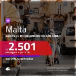 Promoção de Passagens para <b>MALTA</b>! A partir de R$ 2.501, ida e volta, c/ taxas!