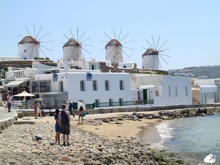 moinhos vento mykonos ilha grega