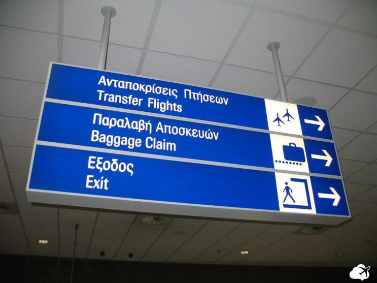 placa escrita em grego