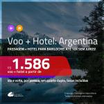 Promoção de <b>PASSAGEM + HOTEL</b> para a <b>ARGENTINA: Bariloche</b>! A partir de R$ 1.586, por pessoa, quarto duplo, c/ taxas!