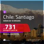Promoção de Passagens para o <b>CHILE: Santiago</b>! A partir de R$ 731, ida e volta, c/ taxas!