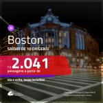Promoção de Passagens para <b>BOSTON</b>! A partir de R$ 2.041, ida e volta, c/ taxas!