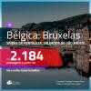 Promoção de Passagens para a <b>BÉLGICA: Bruxelas</b>! A partir de R$ 2.184, ida e volta, c/ taxas!