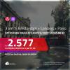 Promoção de Passagens 3 em 1 – <b>AMSTERDAM + LONDRES + PARIS</b>! A partir de R$ 2.577, com datas até AGOSTO/2020, todos os trechos, c/ taxas! Saídas do RIO DE JANEIRO!