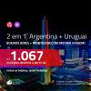 Promoção de Passagens 2 em 1 – <b>ARGENTINA: Buenos Aires + URUGUAI: Montevideo</b>! A partir de R$ 1.067, todos os trechos, c/ taxas!