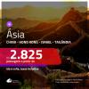 Seleção de Passagens para a <b>ÁSIA: Israel, China, Hong Kong ou Tailândia</b>! A partir de R$ 2.825, ida e volta, c/ taxas!
