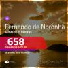Promoção de Passagens para <b>FERNANDO DE NORONHA</b>! A partir de R$ 658, ida e volta, c/ taxas!
