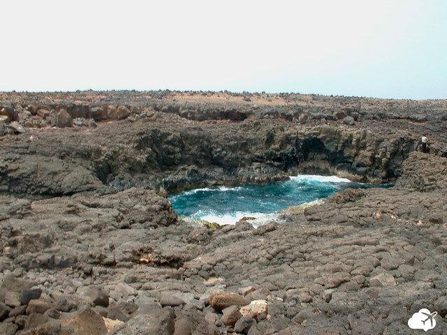 buracona, na Ilha do Sal