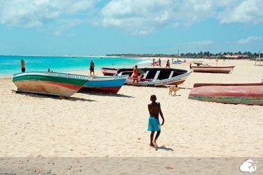 praia de Santa Maria, na ilha do Sal