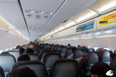 avião por dentro