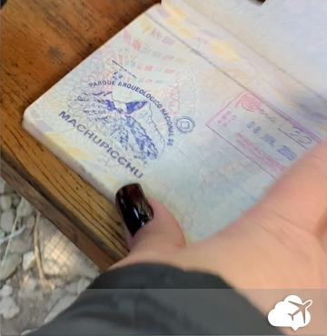 carimbo passaporte machu picchu