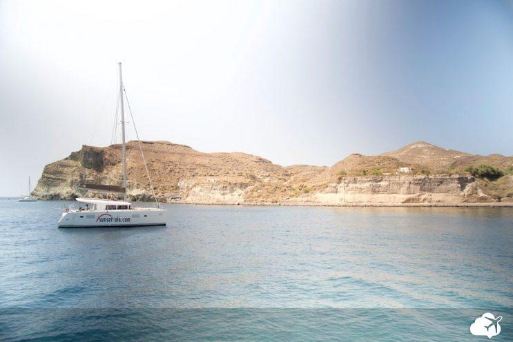 passeio barco santorini