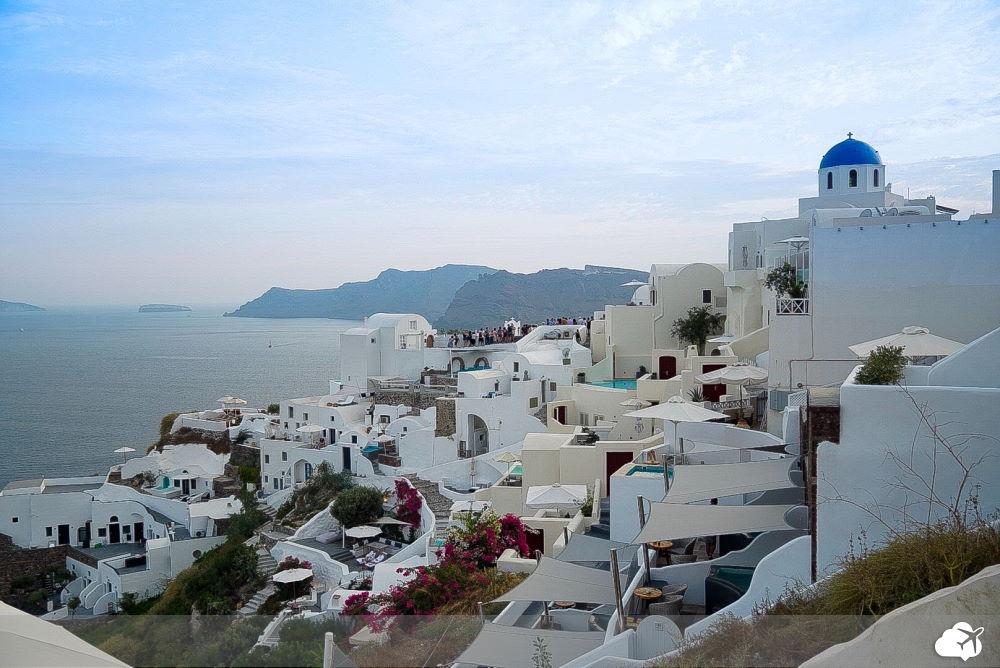 vista oia santorini grecia