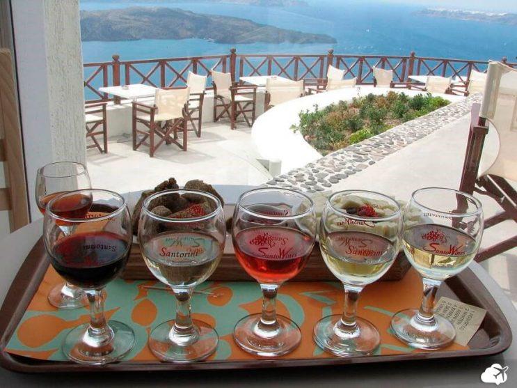 vinicola em santorini