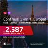 CONTINUA!!! Promoção de Passagens 3 em 1 – <b>PARIS + LONDRES + AMSTERDAM</b>! A partir de R$ 2.587, todos os trechos, c/ taxas!