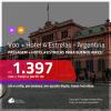 Promoção de <b>PASSAGEM + HOTEL 4 ESTRELAS</b> para a <b>ARGENTINA: Buenos Aires</b>! A partir de R$ 1.397, por pessoa, quarto duplo, c/ taxas!