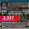 Promoção de Passagens 2 em 1 – <b>LONDRES + ESPANHA: Madri ou Barcelona</b>! A partir de R$ 2.337, todos os trechos, c/ taxas!