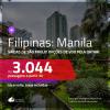 Promoção de Passagens para as <b>FILIPINAS: Manila</b>! A partir de R$ 3.044, ida e volta, c/ taxas! Com opções de VOO pela QATAR!
