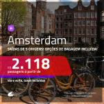 Promoção de Passagens para <b>AMSTERDAM</b>! A partir de R$ 2.118, ida e volta, c/ taxas! Com opções de BAGAGEM INCLUÍDA!