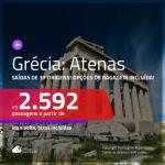 Promoção de Passagens para a <b>GRÉCIA: Atenas</b>! A partir de R$ 2.592, ida e volta, c/ taxas! Com opções de BAGAGEM INCLUÍDA!