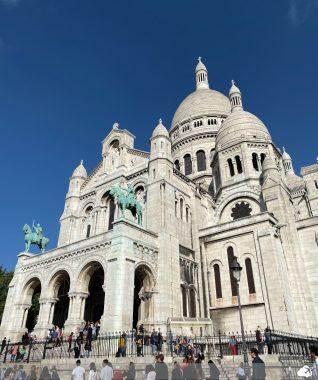 basílica de sacré coeur no bairro montmartre