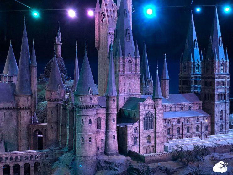 maquete do castelo de Hogwarts cenários de filmes