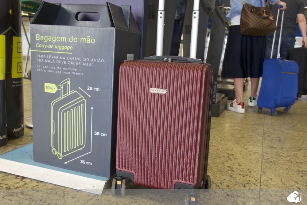 medidas para uma bagagem de mão