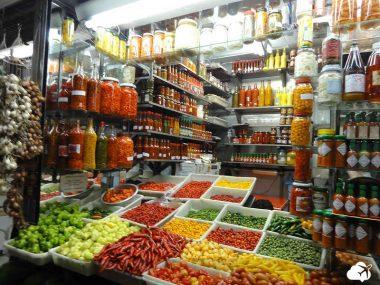 mercado central no centro da cidade