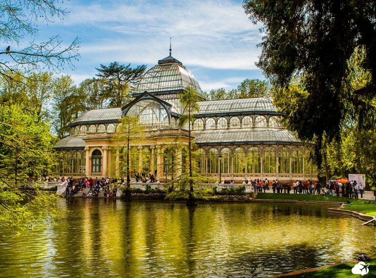 palácio de cristal, no parque de retiro, em madri