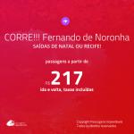 CORRE!!! Promoção de Passagens para <b>FERNANDO DE NORONHA</b>! A partir de R$ 217, ida e volta, c/ taxas!