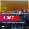 Promoção de <b>PASSAGEM + HOTEL</b> para a <b>ARGENTINA: Buenos Aires</b>! A partir de R$ 1.087, por pessoa, quarto duplo, c/ taxas em até 12x SEM JUROS! Com opções de BAGAGEM INCLUÍDA!
