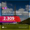 Promoção de Passagens 3 em 1 – <b>PARIS + MADRI + LISBOA</b>! A partir de R$ 2.309, todos os trechos, c/ taxas!