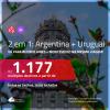 Promoção de Passagens 2 em 1 – <b>ARGENTINA: Buenos Aires + URUGUAI: Montevideo</b>! A partir de R$ 1.177, todos os trechos, c/ taxas!