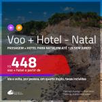 Promoção de <b>PASSAGEM + HOTEL</b> para <b>NATAL</b>! A partir de R$ 448, por pessoa, quarto duplo, c/ taxas em até 12x SEM JUROS!