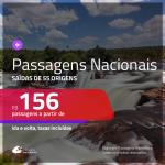 <b>PASSAGENS NACIONAIS</b> em promoção! Valores a partir de R$ 156, ida e volta!