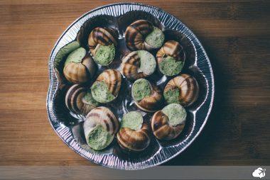 escargot comida típica francesa
