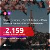 VERÃO EUROPEU! Promoção de Passagens 2 em 1 – <b>LISBOA + PARIS</b>! A partir de R$ 2.159, com datas para viajar no VERÃO EUROPEU, todos os trechos, c/ taxas!