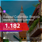 Baixou!!! Promoção de Passagens para a <b>COLÔMBIA: Bogotá</b>! A partir de R$ 1.182, ida e volta, c/ taxas!
