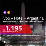 Promoção de <b>PASSAGEM + HOTEL</b> para a <b>ARGENTINA: Buenos Aires</b>! A partir de R$ 1.195, por pessoa, quarto duplo, c/ taxas em até 10x SEM JUROS!