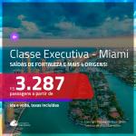 Promoção de Passagens em <b>CLASSE EXECUTIVA</b> para <b>MIAMI</b>! A partir de R$ 3.287, ida e volta, c/ taxas!