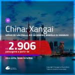 Promoção de Passagens para a <b>CHINA: Xangai</b>! A partir de R$ 2.906, ida e volta, c/ taxas!