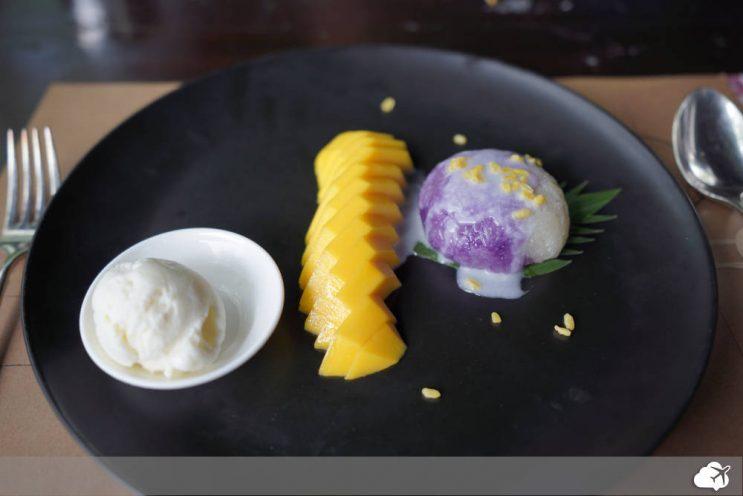 mango sticky rice prato tailandes