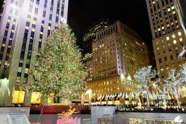 árvore de natal na rockefeller center em nova york