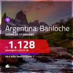 Promoção de Passagens para a <b>ARGENTINA: Bariloche</b>! A partir de R$ 1.128, ida e volta, c/ taxas!