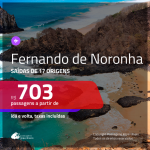 Promoção de Passagens para <b>FERNANDO DE NORONHA</b>! A partir de R$ 703, ida e volta, c/ taxas!