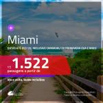 Promoção de Passagens para <b>MIAMI</b>! A partir de R$ 1.522, ida e volta, c/ taxas! Datas até DEZEMBRO/20, inclusive CARNAVAL/20, PRIMAVERA EUA e mais!